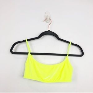 Triangl Yellow Lemon Split Bikini Top